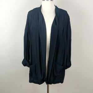 Chelsea28 Black Open Front Cardigan